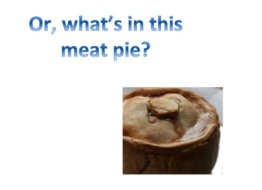 What's in this meat pie copy